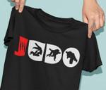 Judo japanese sport acient scar wresting material art birthday gift t shirt