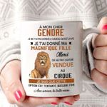 A mon cher lion jungle roar gendre magnifique fille love birthday gift mug