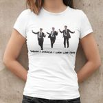 When i dance i look like this vest man white collar office dancing birthday gift t shirt