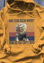 Mke echo oscar whisky how do you copy over cat pilot vintage style for cat lover hoodie