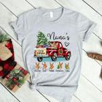 Nanas heart little reindeer grandma xmas tree gifts pickup truck christmas  birthday gift for family t shirt