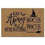 Go Away We'Re Watching Hocus Pocus Halloween Doormat