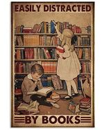 Easily distracted by books Little Boy and Girl poster