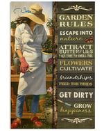 Garden Rules Escape Into Nature Smell The Flowers Friendships Get Dirty Grow Happinessl Poster Canvas