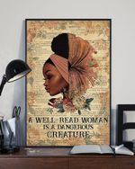 A Well Read Woman Is A Dangerous Creature Black Afro Woman poster