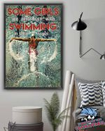 Some Girls Are Just Born With Swimming In Their Souls poster canvas
