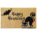 Happy Haunting Cat And Bat Doormat