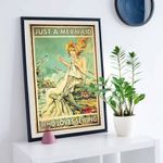 Just a Mermaid who loves sewing poster