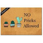 No Pricks Allowed Cactus Doormat