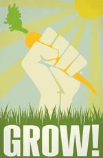 Gardening Grow Poster Canvas