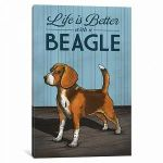 Life is Better with a Beagle poster