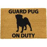Guard Pug On Duty Doormat