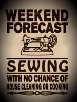 Weekend forecast Sewing Machine poster