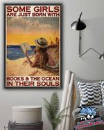 Some Girls Are Just Born With Books And The Ocean In Their Souls poster canvas
