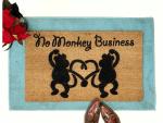 No Monkey Business Doormat