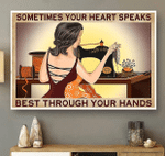 Sometimes your heart speaks best through your hands horizontal canvas