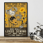 Once upon a time Sunflower and Sewing Girl poster