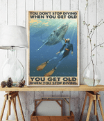 You Don'T Stop Diving When You Get Old Poster