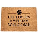 Cat Lovers And Weirdos Welcome Doormat