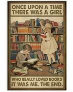 Once upon a time Little boy and girl poster