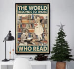 The world belongs to those who read Little Boy and Girl poster