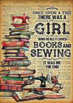 once upon a time books and sewing poster