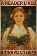 A reader lives a thousand lives Braid hair girl poster