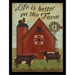 Life Is Better on the Farm Dairy Cows Poster