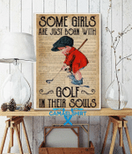 Some girls are just born with golf in their soul vertical poster