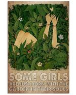 Girls born with garden in their soul garden lover plant lover Green Canvas Wall Art Home Decor