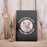 Sphynx Make Me Happy Humans Make My Head Hurt Gift For Cat Lovers Matt Poster Canvas