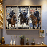 Mounted Police Horse it's not a phase it's my life wall art canvas