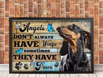 Basset Hound Dog Angels Dont Always Have Wings Sometimes They Have Paws Animal Poster