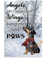 Basset Hound Angels Dont Always Have Wings Sometimes They Have Paws Animal Poster