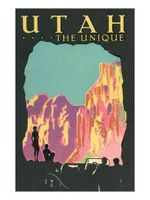 Utah The Unique Road Trip Poster
