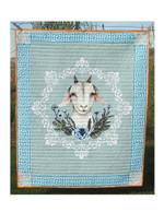 White Goat Quilt Blanket
