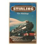 Stirling For Holidays Road Trip Vintage Poster