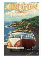 Oregon Coast Van Road Trip Poster