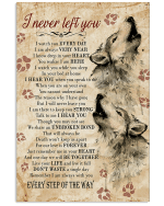 Wolf I Never Left You Poster Canvas