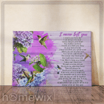 Flower Cardinal I Never Left You Poster Canvas