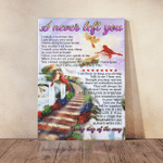 Cardinal Waterfall I Never Left You Poster Canvas