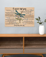 Dragonfly Flower I Never Left You Poster Canvas