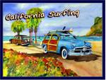 California Surfing Ocean Beach Travel Road Trip Poster