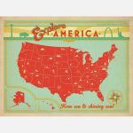Explore America From Sea To Shining Sea Road Trip Poster
