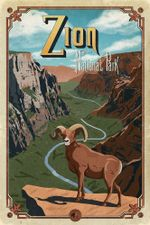 Zion National Park Road Trip Poster