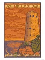 Desert View Watchtower Grand Canyon National Park Road Trip Poster