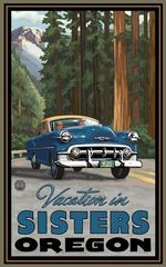 Vacation In Sisters Oregon Road Trip Poster