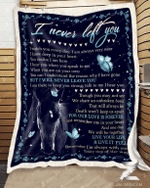 Horse Butterfly I Never Left You Quilt Blanket