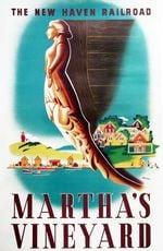 Martha'S Vineyard New Haven Railroad Road Trip Poster