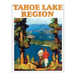 Tahoe Lake Region Road Trip Poster